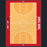 """Basketball Court Detailed Dry Erase Board<br><div class=""""desc"""">A beautiful, customized, one of a kind basketball coaching dry erase board for your team will get the players a better opportunity to win by visualizing plays and player positioning, but also make them feel like they&#39;re in the big time seeing their name on the board! These are high quality,...</div>"""