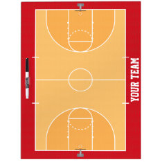 Basketball Court Detailed Dry Erase Board at Zazzle