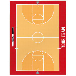 Basketball Court Detailed Dry Erase Board