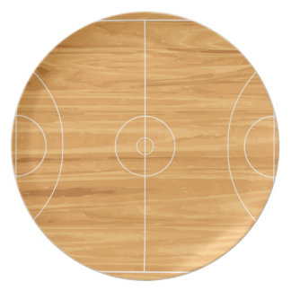 Basketball Court Dinner Plate