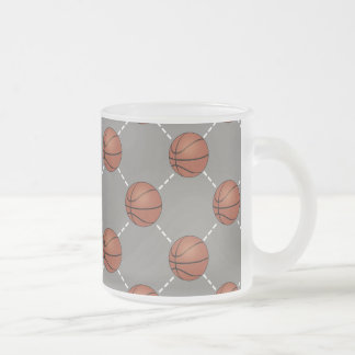 Basketball Court Frosted Glass Coffee Mug