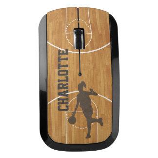 Basketball Court Girl Woman Custom Wireless Mouse