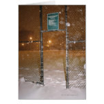 Basketball Court in Snow Card