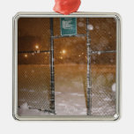 Basketball Court in Snow Christmas Tree Ornament