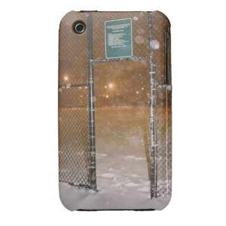 Basketball Court in Snow iPhone 3 Cover