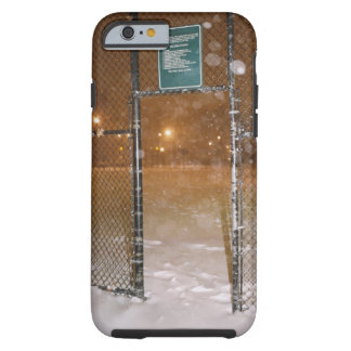 Basketball Court in Snow Tough iPhone 6 Case