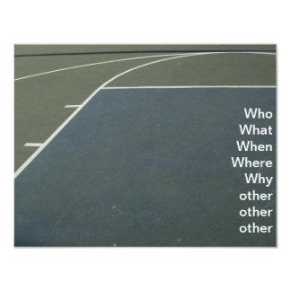 Basketball Court 4.25x5.5 Paper Invitation Card