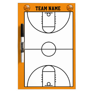 Basketball Court Layout Dry-Erase Board