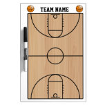 Basketball Court Layout On Wood Dry-Erase Whiteboard