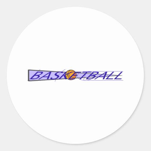 Basketball Court Logo Sticker