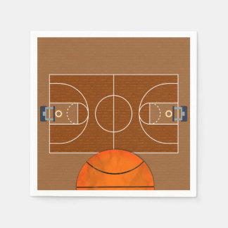 Basketball Court Paper Napkin