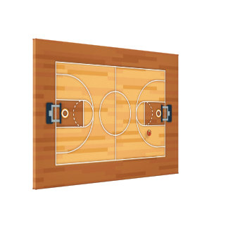 Basketball Court Pitch Hall Ball Canvas Print