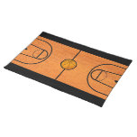 Basketball Court Placemat - Unique Basketball Gift Cloth Placemat