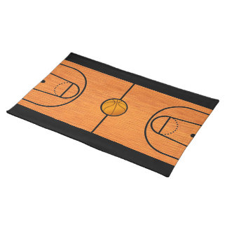 Basketball Court Placemat - Unique Basketball Gift Cloth Place Mat