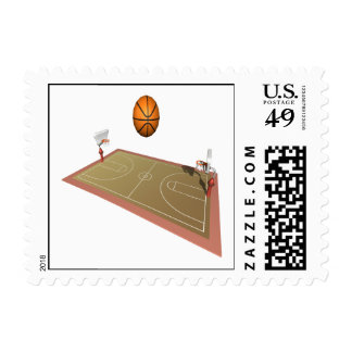 Basketball Court Postage