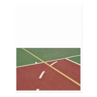 Basketball court postcard