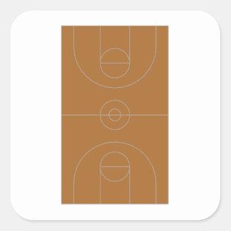 Basketball Court Square Sticker