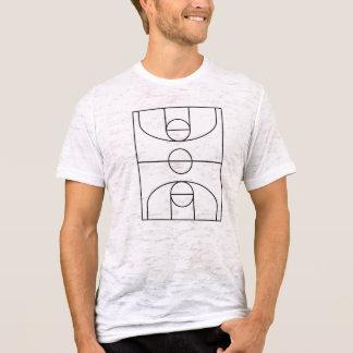 Basketball court Vintage burnout t-shirt