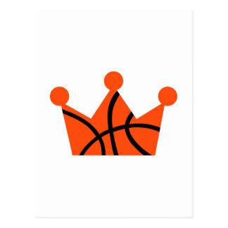 Basketball crown ball postcard