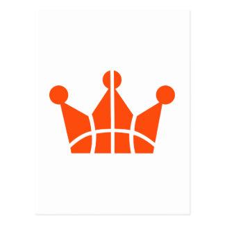 Basketball crown symbol postcard