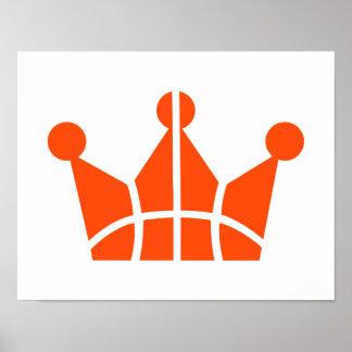 Basketball crown symbol print