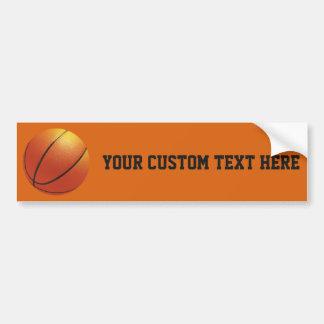 Basketball custom bumpersticker bumper sticker