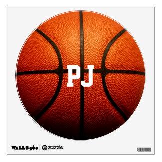 Basketball Custom Initials Wall Decal