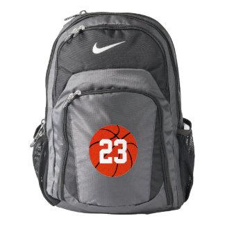 Basketball Custom Jersey Number Team Backpack