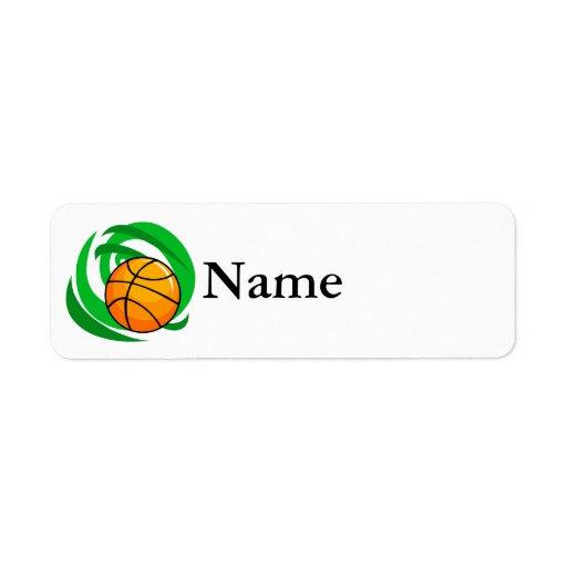 Basketball Custom Return Address Labels