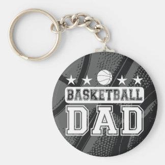 Basketball Dad Basic Round Button Keychain