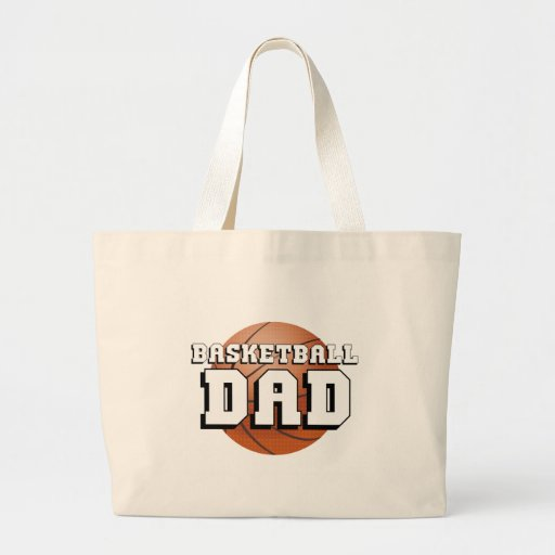 Basketball Dad Canvas Bags