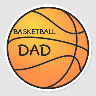Basketball Dad Classic Round Sticker