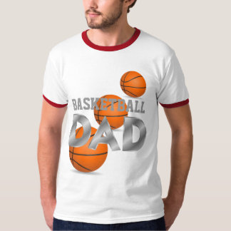Basketball DAD red & white t-shirt