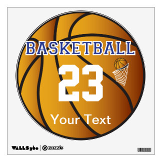 Basketball Dark Blue Letter Personalize Wall Decal
