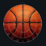 "Basketball Dartboard With Darts<br><div class=""desc"">Cool Basketball design</div>"
