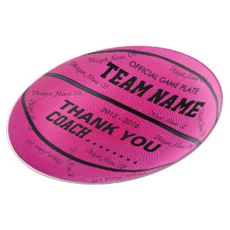 BASKETBALL DECORATIVE PLATE Pink bl