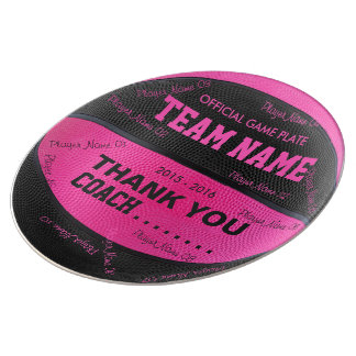 BASKETBALL DECORATIVE PLATE Pink Black bl pt