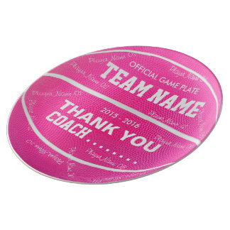 BASKETBALL DECORATIVE PLATE Pink wl wt