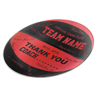 BASKETBALL DECORATIVE PLATE Red Black bl rt