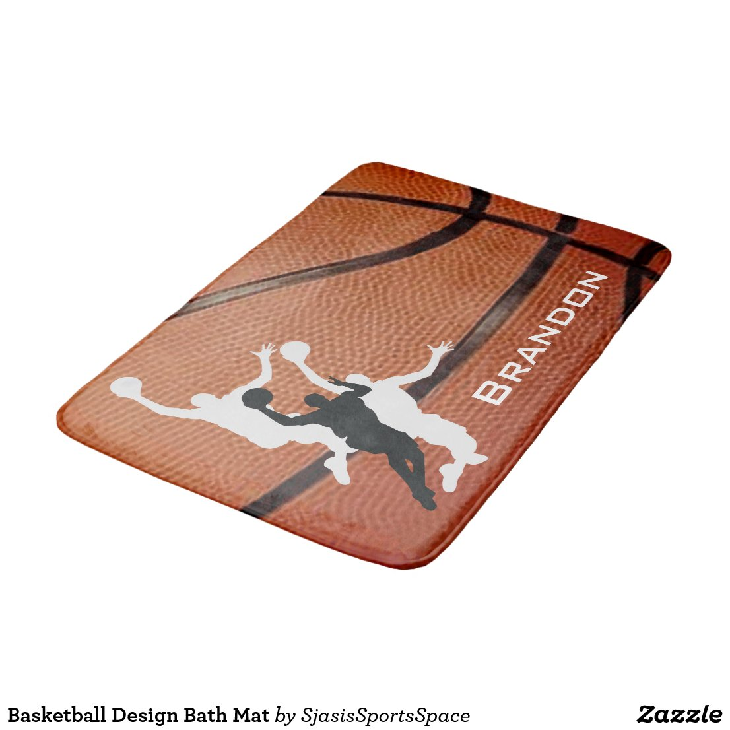 Basketball Design Bath Mat