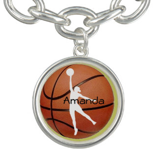 Basketball Design Charm Bracelet