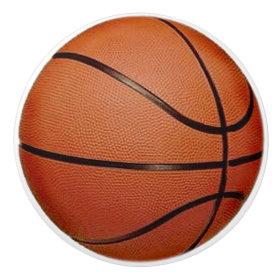 Basketball Design Drawer Pull, Cabinet Knob Ceramic Knob