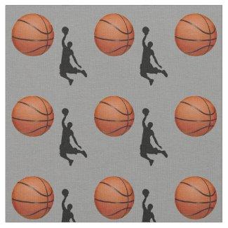 Basketball Design Fabric