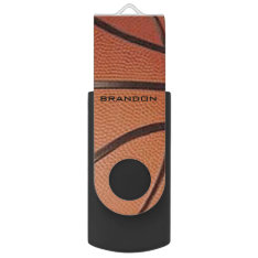 Basketball Design Flash Drive at Zazzle