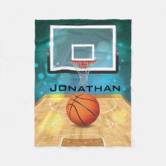 Basketball Design Fleece Blanket at Zazzle