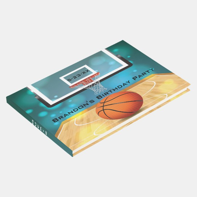 Basketball Design Guest Book