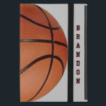 """Basketball Design iPad Air Case<br><div class=""""desc"""">Basketball Design iPad Air Case with customizable text.  For no text,  delete sample text and leave blank.  Background color can be changed by selecting customize,  edit and background.</div>"""