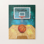"""Basketball Design Jigsaw Puzzle<br><div class=""""desc"""">Basketball Design Jigsaw Puzzle with optional personalization.  Available in various sizes and number of pieces.</div>"""