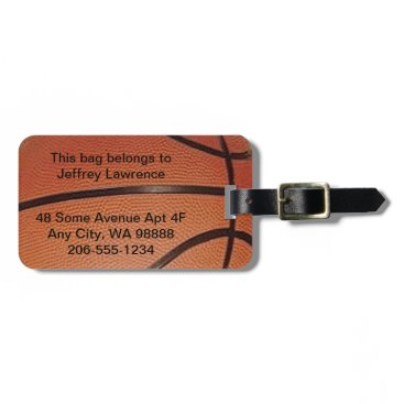 SjasisSportsSpace Basketball Design Luggage Tags
