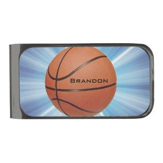 Basketball Design Money Clip